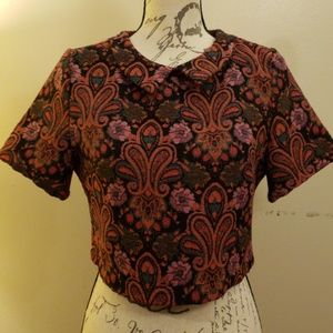 Fashion Union Vintage Style Crop Top